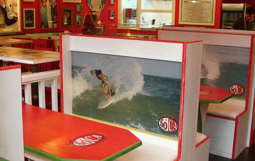 Decoracion tematica bares restaurantes cafe surf moderno original pubs retro vintage  (10)